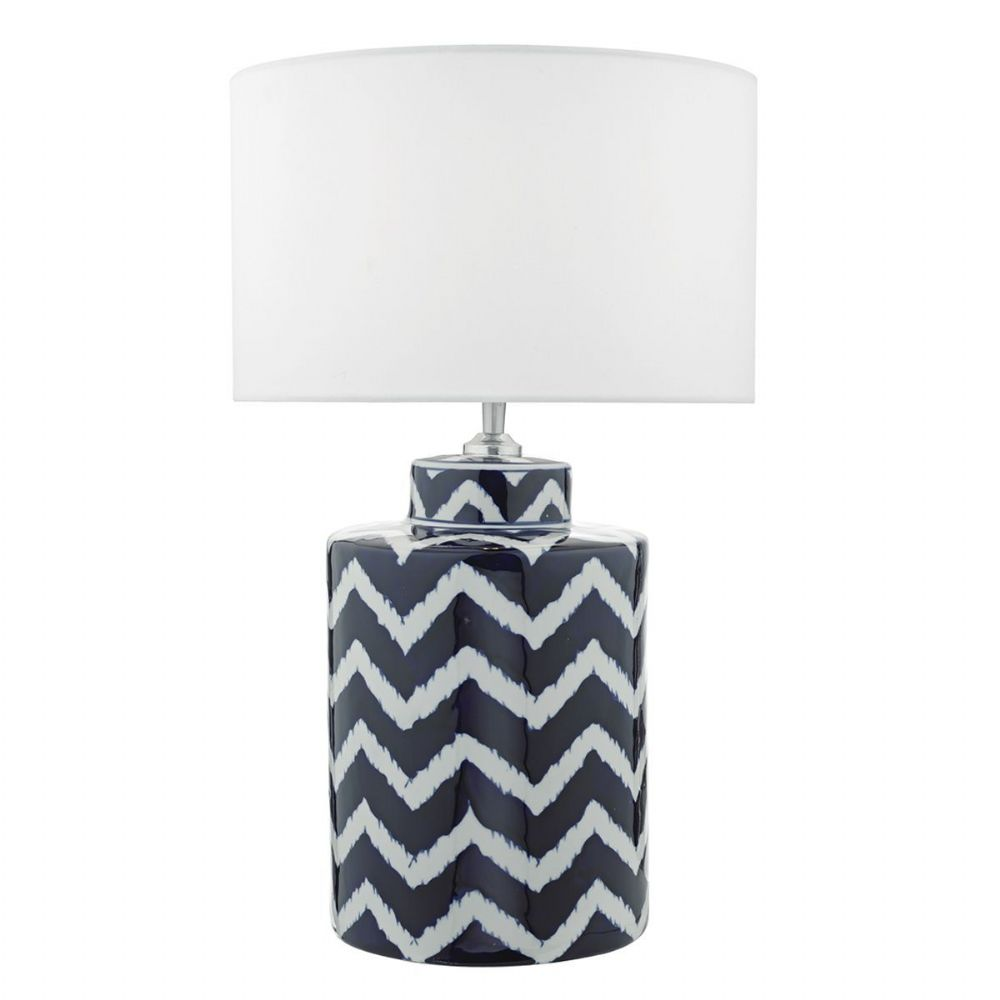 Caelan Table Lamp Blue White Base Only